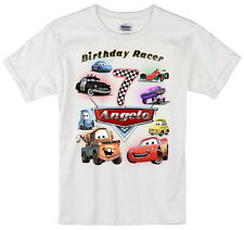 Cars Lightning McQueen birthday shirt Personalized Custom Name Age Kids T-Shirt