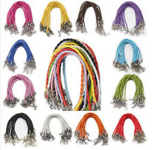10PCS Wholesale Leather Chains Necklace Charms Findings String Cord Bracelets