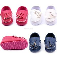 0-12M New Toddler Baby Girls Boys Casual Soft Sole Peas Shoes Leather Crib Shoes