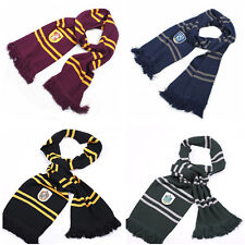 Harry Potter Gryffindor Ravenclaw Hufflepuff Slytherin Scarf + Tie + Hat Costume