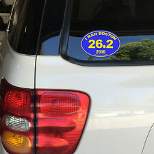 Boston Marathon 26.2 Removable Window Car Sticker Decal ANY YEAR 2015 2016 2017
