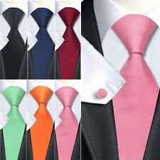 Hot! Solid Plain Classic 100% Silk Necktie Jacquard Woven Necktie Men's Tie