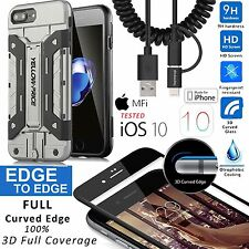 """Armor Case 3D Glass Screen Apple Lightning Charging Cable For iPhone 7 Plus 5.5"""""""