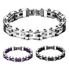 Mens Jewellery Stainless Steel Bicycle Chain Hand Chain Charm Bangle Bracelet