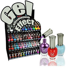 KLEANCOLOR 1 GEL EFFECT NAIL POLISH LACQUER NO UV or LED Needed !