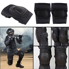 Outdoor Adjustable Airsoft Tactical Military CS Combat Knee Protective Pad Guard