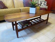GrOoVy RETRO MID-CENTURY MODERN DANISH TH BROWN SCANDI MAG RACK COFFEE TABLE