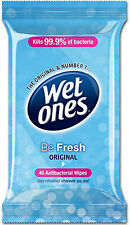 Wet Ones Be Fresh Original Antibacterial Travel Wipes Family Size 40 Pack
