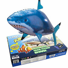Air Swimmer Remote Control RC Flying Inflatable Fish Shark TOY Blimp Balloon New