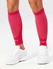 NEW 2XU UNISEX COMPRESSION RUN CALF SLEEVES - Hot Pink/Hot Pink