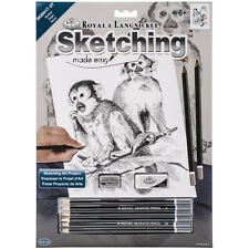 Sketching Made Easy Kit 9 Inch X 12 Inch-Monkeys 090672944252