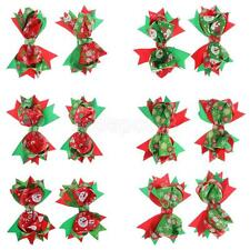 Phenovo Christmas Bownot Bow Clips Hairpin Xmas Aligator Clip Hair Accessories