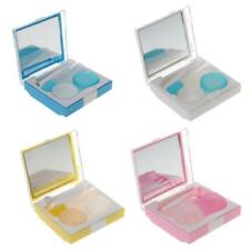 Pocket Size Travel Kit Contact Lens Case Box Eye Care Mirror Holder Container