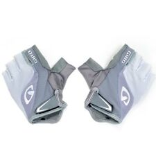 GIRO Bravo Gel Moisture Wicking Bike Short Finger Gloves , White x Silver