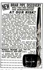 1960 Briar Pipe: Wally Frank, Will You Test Smoke Print Ad (6441)
