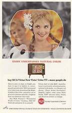 1963 RCA Victor New Vista Color TV: Unsurpassed Print Ad (12223)