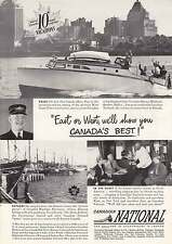 1949 Canadian National: Vancouver Harbor Print Ad (12361)