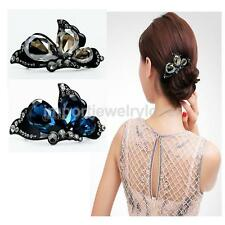 Elegant Women Bow Hair Clip Barrette Hairpin Crystal Rhinestone Hair Accessories