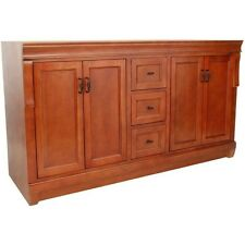 "Foremost FMNACA6021D 60"" Vanity Cabinet Only Cinnamon"