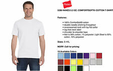 Hanes T-Shirt Tee Men's Short Sleeve 5.2 oz ComfortSoft Cotton Solid Basic 5280