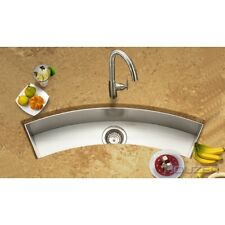 Houzer CTC-3312 Contempo Undermount Curved Bar/Prep Sink Stainless Steel