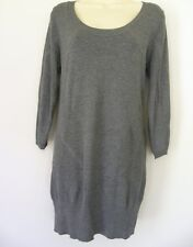 BNWT JACQUI E LOVELY GREY DRESS TUNIC RRP $99.95 small med  ***FREE POSTAGE***