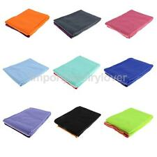 Non-Slip Yoga Towel Mat Grip Absorbent Hot Pilates Fitness Gym Washable Widen