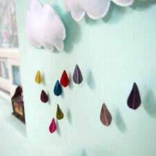 Removable Cloud Raindrop Wall Stickers Decals Mural Nursery Baby Kids Room Decor