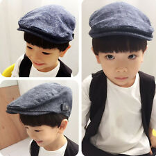 Kids Boy Girl Duckbill Ivy Flat Cap Beret Cap Peaked Hat Newsboy Cabbie Golf Hat