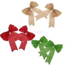 Christmas Tree Bow Wreath Hanging Hampers Crafts Decoration Gift for Christmas