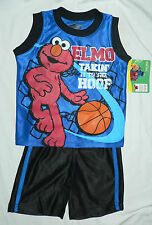 Licd.Quality ELMO Infant 2 Piece Short Set - Sz12mths,18mths,- Imported from USA