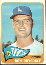 1965 Topps Don Drysdale Los Angeles Dodgers #260 Baseball Card