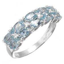 Blue Topaz Gemstone Ring 925 Solid Sterling Silver Latest Jewelry Size 8 zc76401