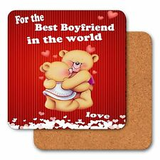 Personalised Christmas Drink Coaster Gift for Boyfriend Husband Wife Girlfriend