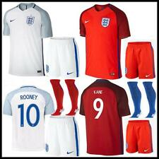 new 2016 England Football  Soccer Short Sleeve+socks Sportswear Jersey 3-14 Year