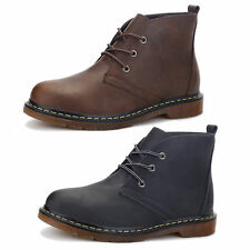 MENS CASUAL ANKLE BOOTS FASHION CHELSEA SPLIT LEATHER LACE UP SHOES SIZE US 8-11