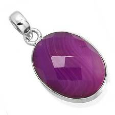 925 Solid Sterling Silver Collectible Pendant Botswana Agate Gemstone zc90823