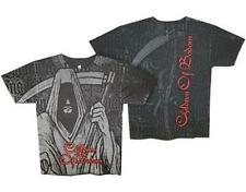 OFFICIAL LICENSED - CHILDREN OF BODOM - REAPER ALL OVER T SHIRT DEATH METAL