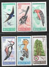 HUNGARY 1966 BIRDS IN NATURAL COLORS SC # 1746-1751 MNH