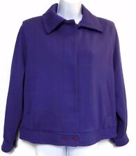 Women's Bleyle Purple 100% Wool Jacket Coat Size 12 Made in the USA