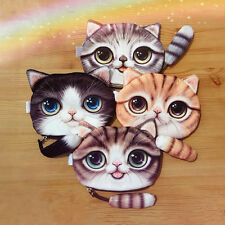 Fashion Cartoon Cat Face Tail Coin Purse Kids Wallet Bag Pouch Key Card Holder
