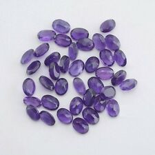 Natural Amethyst Oval Calibrated Sizes Purple Color Top Quality loose Gemstone