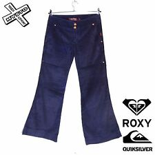 QUIKSILVER ROXY 'SOULMATE' CORDUROY TROUSERS DEEP SEA BLUE UK 10 12 BNWT RRP £57