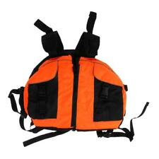 Outdoor Kayaking Boating Rafting Life Jackets Swimming Floating Vest Blue/Orange