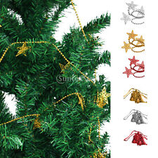 Christmas Star Bell Xmas Tree Decorations Ornament Ball Chain Hanging Decor
