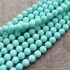 """Frost Amazonite Color Jade 6-14mm Round Loose Beads 15"""""""