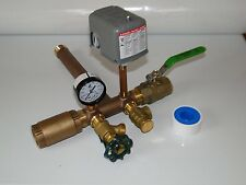 1 x 11 + VALVES Pressure Tank Tee Kit BRASS NO LEAD water well SQUARE D SWITCH