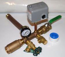 1 x 11 + UNION + VALVES Pressure Tank Tee Kit BRASS NO LEAD water well SQUARE D