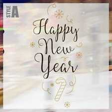 Merry Christmas and Happy New Year Wall Art Sticker Decal Window Sticker CHR024