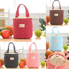 Lunch Bags Round Thermal Insulated Lunch Box Cooler Bag